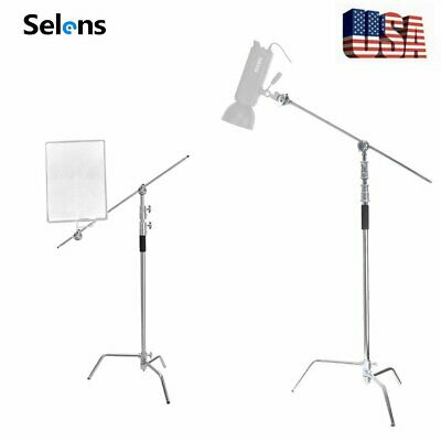11ft Turtle Base C-Stand Heavy Duty Reflector Stand with Gobo Arm & Grip Head