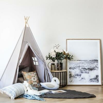 Large Teepee Children's Play Tent Grey Kids Wigwam Indoor Tipi Girls Boys