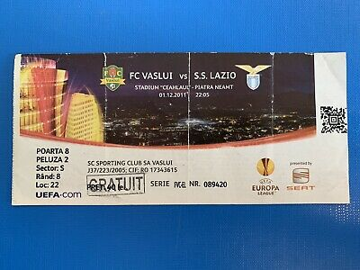 Biglietto Stadio Ticket Vaslui-Lazio Europa League 2011/'12