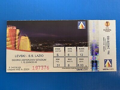 Biglietto Stadio Ticket Levski Sofia-Lazio Europa League 2009/'10