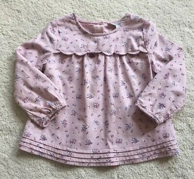 The Little White Company Baby Girl Lilac Floral Top Age 12-18 Months
