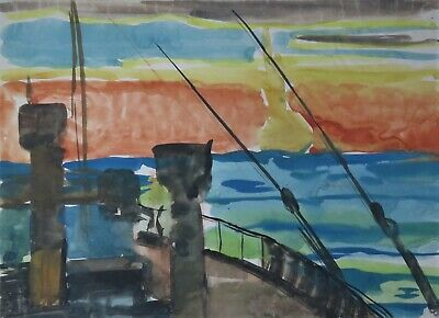 Aquarell Expressionismus Paul Mechlen