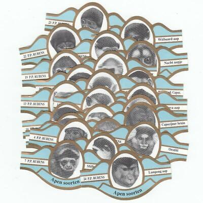 24 cigar bands Rj Famous Scientists iss in 1972