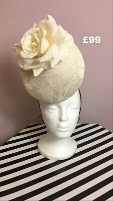 Ivory Headpiece Fascinator Wedding Motber Of The Bride