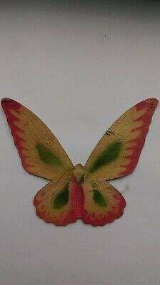 Antique Dresden pressed cardboard ornament BUTTERFLY