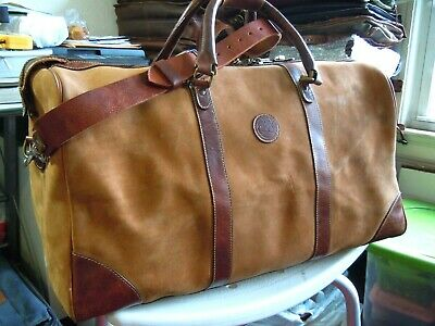 VINTAGE 1980's TIMERLAND  LEATHER DUFFLE TRAVEL BAG EUC MADE in USA