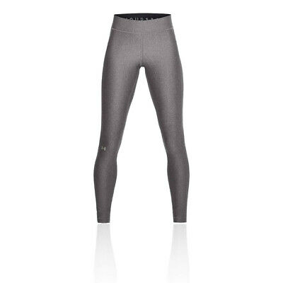 Under Armour Womens Heatgear Leggings Bottoms Pants Trousers - Grey Sports Gym