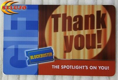 Collectable BlockBuster Gift Card $0.00 No Value   (lot 29)