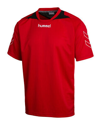 Hummel SS Poly Roots Jersey Red/Black age10-12