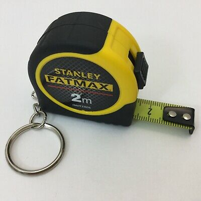 STANLEY 2m FAT MAX TAPE MEASURE metric FMHT33856 key ring chain .