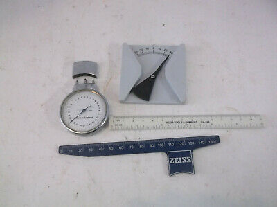 optometrist odd lot of guages zeiss etc convex gauge made in england
