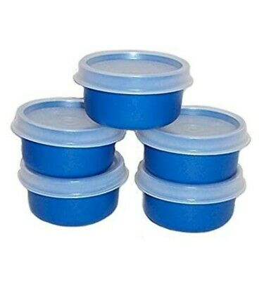 New TUPPERWARE Smidgets w/ Sheer Seals in GREEN! Set of 5 FREE US SHIPPING