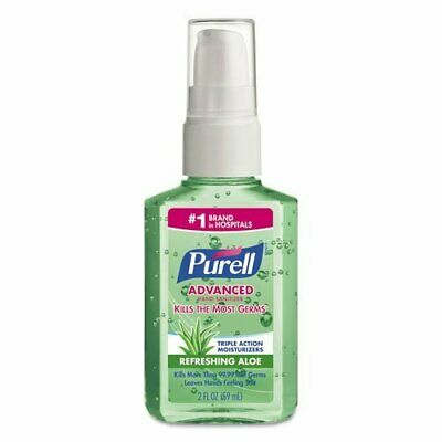 PURELL Instant Hand Sanitizer with Aloe, 2oz Pump Bottle, Fresh Scent - 24 pump