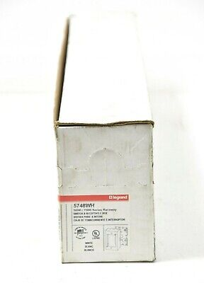 Box Of 10. Wiremold 5748Wh Deep Switch/Receptacle Box. White, For 500/700 Series