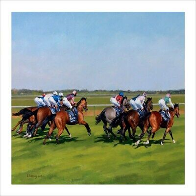 Horse Racing Blank Greeting Card Any Occasion / Birthday Card Premium Quality