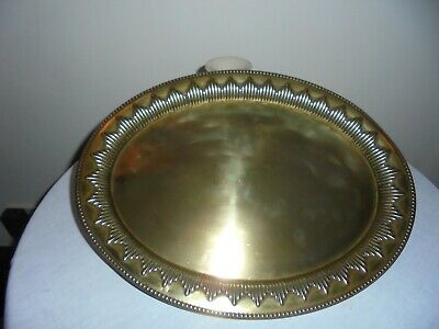 Antique/Vintage Brass Arts And Craft Oval Tray