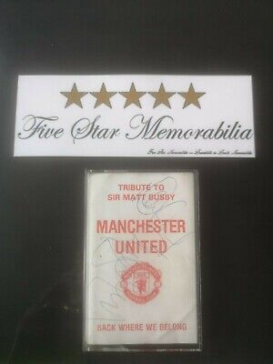 Manchester United Multi Signed Cassette Shirt Photo Very Rare Collectable  Coa