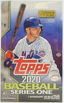 2020 Topps Series 1 Baseball Hobby Box - 1 Silver Pack and 1 Autograph or Relic
