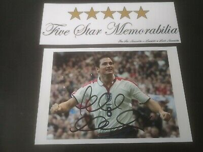 Frank Lampard Signed England 6X4 Photo Chelsea Manager World Cup Euro 2004 Coa