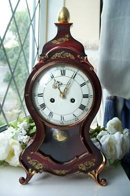 WONDERFUL VINTAGE SCHMID  NEUCHATEL TWIN CHIME 8 DAY VINTAGE MANTLE CLOCK c1970