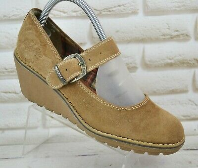 S.OLIVER Womens Brown Suede Casual Wedge Shoes Comfort Heels Size 6 UK 39 EU