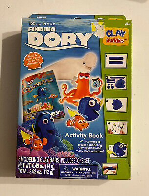 Disney Pixar Finding Dory Activity Book w/ Modeling Clay Figurines Clay Buddies
