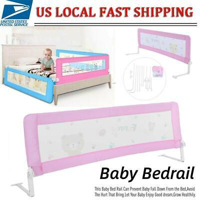 "Universal 59""/71"" Baby Guard Bed Rail Toddler Safety Adjustable Kid Infant Bed"