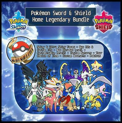 Pokemon Sword & Shield | Home Legendary Bundle | 6IV | Battle Ready |