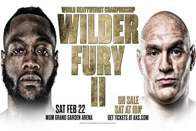 2 tickets Deontay Wilder vs Tyson Fury SECTION 1 - *Vegas MGM.  GREAT SEATS !!