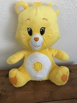 "Care Bears Funshine Bear 12"" Plush Yellow Sunshine Tummy Stuffed Animal Toy"
