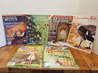 6 pc MAGAZINE Lot Tole World Decorative Arts Painting Projects BX6