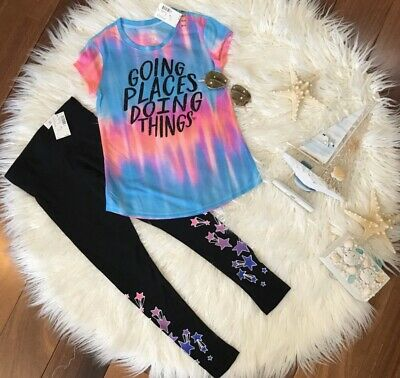 New! Girls Justice T-Shirt And Leggings Size 6/7