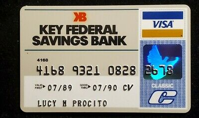 Key Federal Savings Bank Visa Clasic credit card exp 1990♡Free Shipping♡cc984