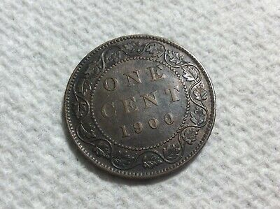 1900 no H Canada large cent VICTORIA Very Fine