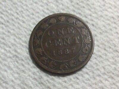 1887 Canada large cent VICTORIA Very Good
