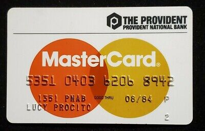 Provident National Bank Philadelphia PA MasterCard♡Free Shipping♡cc991♡
