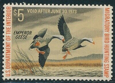 Dr Jim Stamps Us Department Of Interior Duck Scott Rw39 $5 Unused Og Nh
