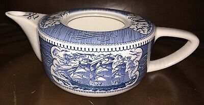 Royal USA Currier And Ives Tea Pot Only No Lid Included