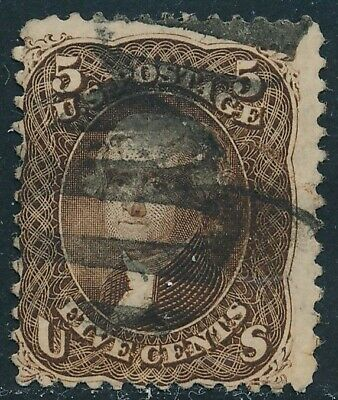 Dr Jim Stamps Us Scott 76 5C Jefferson Used No Reserve Free Shipping