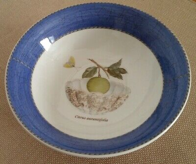 1 Wedgwood Sarah's Garden Queen's Ware Coupe Cereal Bowl Blue 6 3/4""