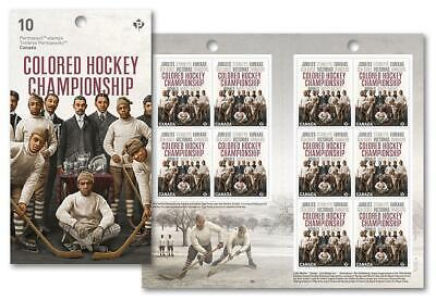2020  - Black History Month - Colored Hockey Championship - Booklet of 10 Stamps