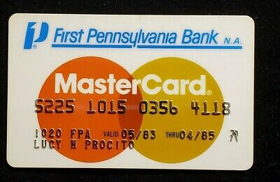 First Pennsylvania Bank MasterCard exp 1985♡Free Shipping♡cc1007♡