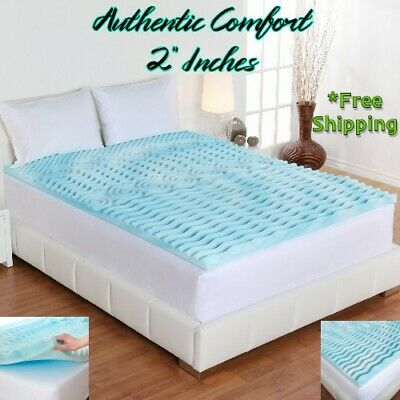 "2"" Orthopedic Foam Matress Topper Twin Cover King Size Mattress Topper Queen Pad"