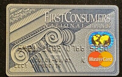 First Consumers National Bank MasterCard exp 2003♡Free Shipping♡cc1013