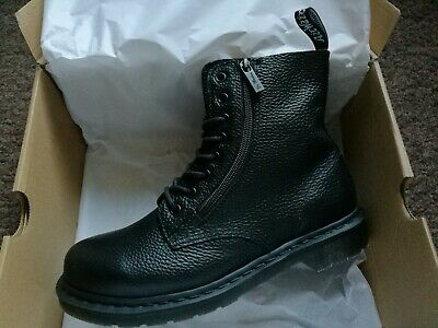 Genuine Dr Martens 1460 Pascal Zip Soft Leather Black Aunt Sally Boot UK 8 EU 41