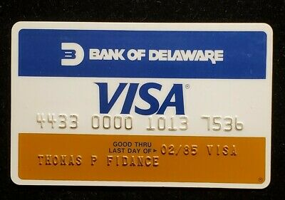 Bank of Delaware Visa exp 1985♡Free Shipping♡cc1018♡