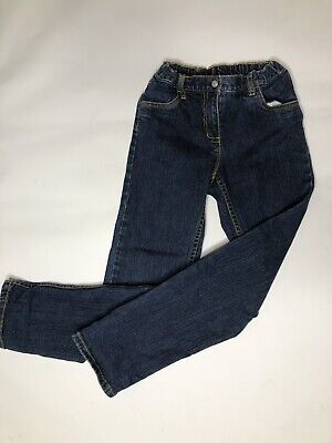 Hanna Andersson girls adjustable waist full length blue jeans 140  10y GUC