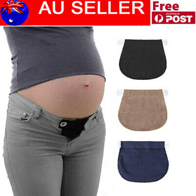 1/3PCS Pregnancy Waistband Belt Adjustable Elastic Waist Extender Pants TE