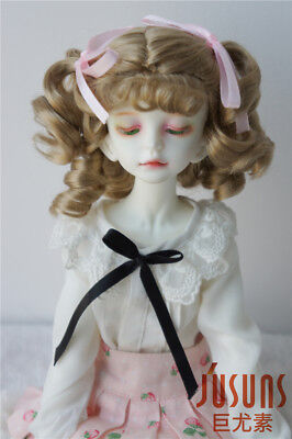 """Synthetic Mohair MSD Doll Hair 1//4 Hermione BJD Doll Wigs 7-8/"""" Doll Wig 2 Colors"""