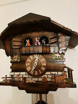 STUNNING  BLACK FOREST  MUSICAL CUCKOO  CLOCK /FULLY Servised/VERY Clean/